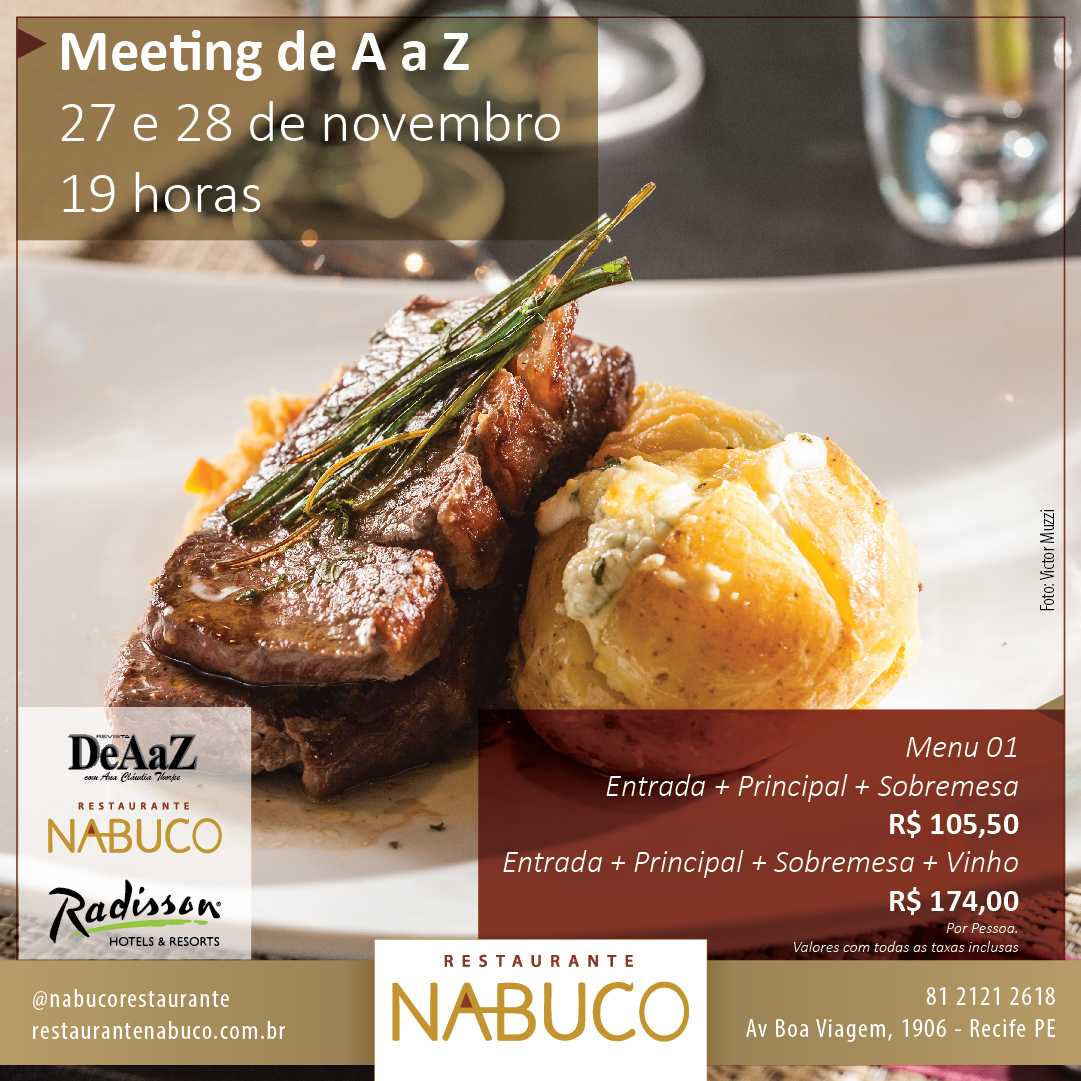 Social Media Meeting de A a Z Restaurante Nabuco – Kalulu Design on